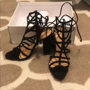 NIB New In Box Schutz Black Loriana Heels 7.5